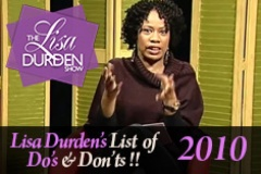 Lisa's List of Do's and Dont's 2010