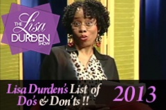 Lisa's List of Do's and Dont's 2013
